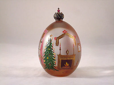 Theo Faberge St Petersburg Collection Limited Edition Crystal Christmas Egg #55