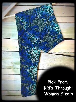 Blue Serenity Amazing Buttery Soft Leggings Pick From Kid's-Women