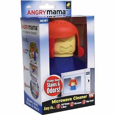 Angry Mama Microwave Cleaner Oven Fast Action Steam Cleaner Cleans