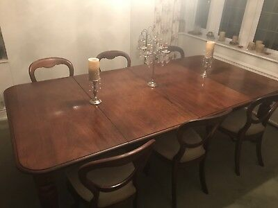 Victorian Solid Mahogany Pull Out Double Leaf Extending Dining Table, 2.4 metre
