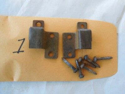 Antique Org Globe Wernicke Stacking Bookcase Door Hinge Assembly With Screws