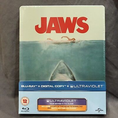 JAWS Blu-ray Steelbook UK Limited Edition BRAND NEW SEALED