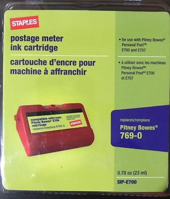 10 Red SIP-E700 Replacement Postage Meter Ink Cartridge for Pitney Bowes 769-0