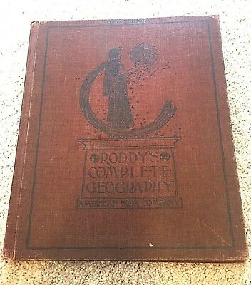 Antique! 1902 Roddy's Complete Geography-Ohio Indiana Illinois supplements