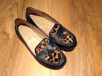 dfa054fb3adedd Ladies Hotter Comfort Concept Black Leather Loafers Shoes Size 7 41 Bnwob