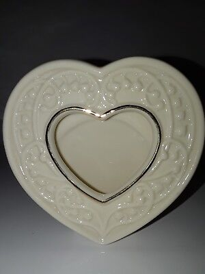 Small Heart Picture Frame in Wedding Promises Collection by Lenox