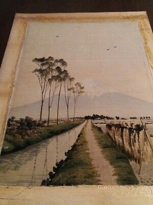 Antique Japanese Embroidered Picture