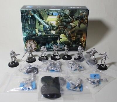 Corvus Belli Infinity two (2) Packs (Starter and Expansion) 14 loose miniatures