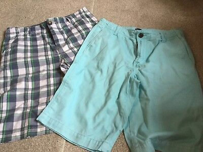 BUNDLE Boys Chino Shorts x 2 - GAP, BLUE ZOO - Age 13  EXCELLENT CONDITION
