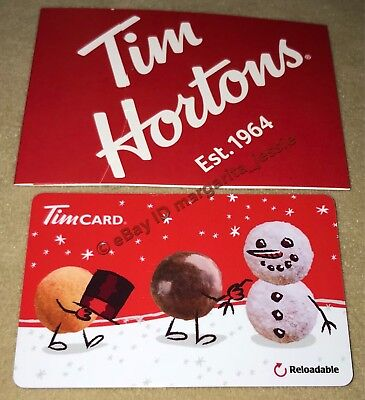 Tim Hortons Coffee Gift Card Snowman Christmas 2017 Us No Value Fd59173 New 6147