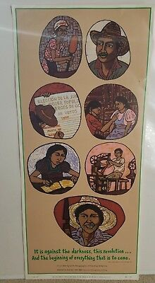 Syracuse Cultural Workers Poster Political - Lisa Koklin 1983 - Central America