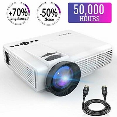 """176"""" Mini Display LED Video Projector 2018 + 70% Brighter Portable Home Theater"""