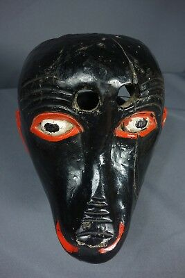 Antique Vintage Monkey Traditional Dance Mask from Chimaltenango, Guatemala