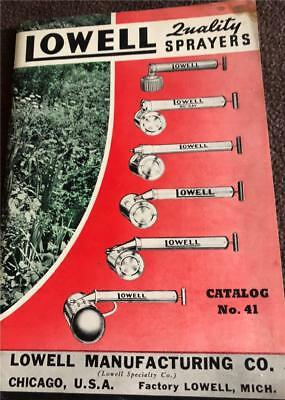 1941 LOWELL SPRAYER Chicago IL ILLUS DEALER CATALOG,64pgs,100photos + PRICE LIST
