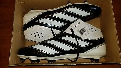 best service 8fae9 48d79 NEW Mens ADIDAS Malice 2 D Black White Silver Football Cleats Shoes Sz 15  G48165