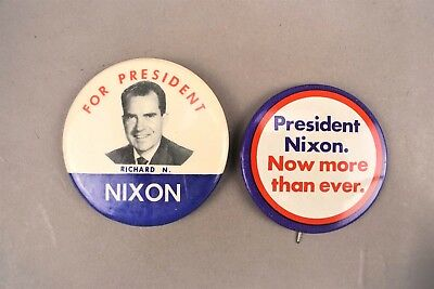 Richard Nixon For President Ever Political Campaign Pin Button Lot of 2