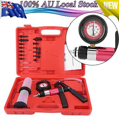 Auto Hand Held Vacuum Pump Pressure Tester Kit Brake Bleeder Test Tool Set HOT