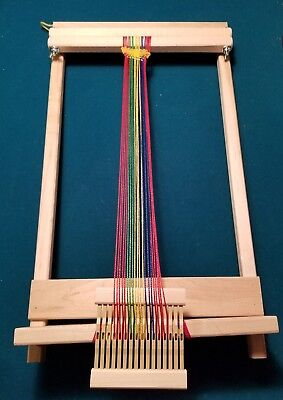 "BEKA 7201 Child S 10  Weaving Loom Wood Adjust Craft 20"" Approx Height X 12"
