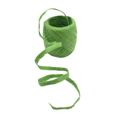 Paper Green Raffia Ribbon Wrapping Flowers Craft DIY Wire & Cord Supply 20m