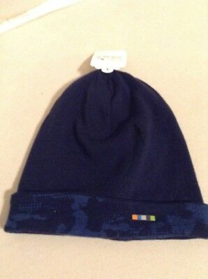 6036a1a7e32 Smartwool Kid Merino 250 Cuff Beanie Blue Small Medium 18019-A40 MSRP  27.00