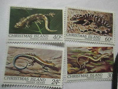 1981  Christmas   Island  --Wildlife  Reptiles  --4   Stamps  -F/set  ---Mint