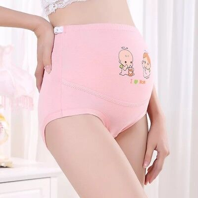 2PCS Cotton High Waisted Pregnancy Maternity Adjustable Briefs Panties Underwear