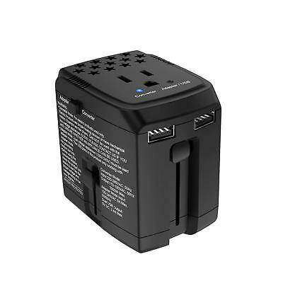 Travel Adapter 2000W 220V To 110V Converter With 2 USB Ports | Step Down Voltage