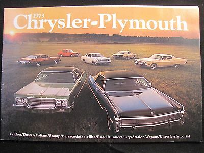 Automobile/Car Sales Brochure Showroom Advertising 1973 Chrysler Plymouth LineUp