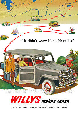 Willys Station Wagon - 1949 Vintage Advertising Poster