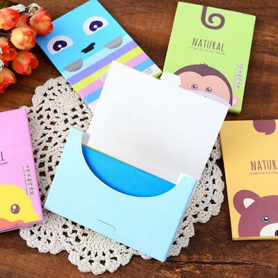 50/100 Sheets Facial Oil Control Film Wipes Absorbing Face Blotting Paper AU