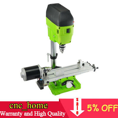 220V Mini DIY Lathe Machine Wood Lathe Mini Bench Drill for Wood Plastic 480W