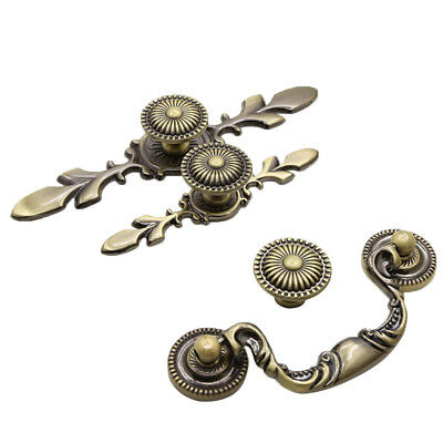 Retro Door Handles Furniture Bronze Vintage Kitchen Cabinet Pulls