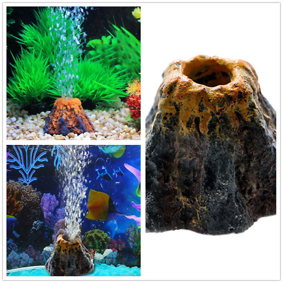 AU Home Decor Volcano Shape Resin Air Bubble Stone for Aquarium Fish Tank Pond