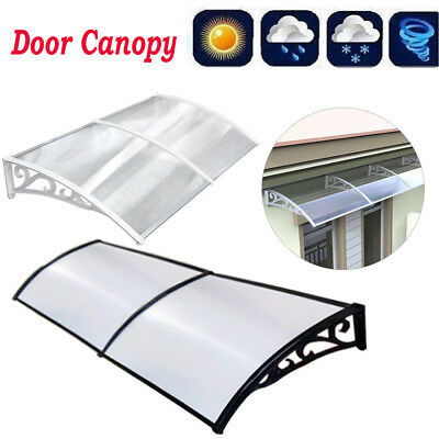 Door Canopy Front Back Awning Patio Porch Roof Sun Rain Cover Outdoor Shelter