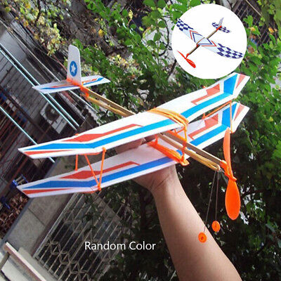 Rubber Band Airplane DIY Powered Glider Plane Assembly Model Novelty Aircraft/