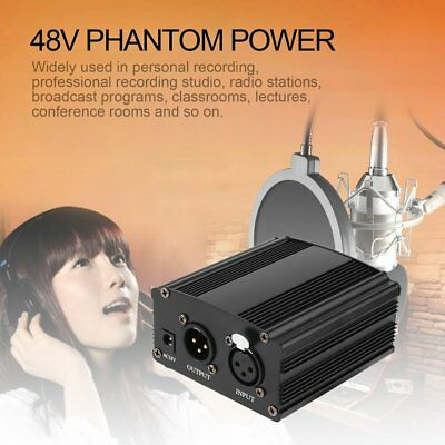 48V Phantom Power with Audio Line For Condenser Microphone Studio Broadcasting T