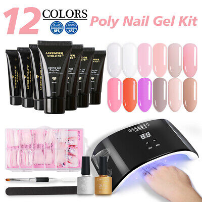 30g Quick Extension UV Builder Gel Jelly Poly Gel Nail Art Tip Dual Forms Brush