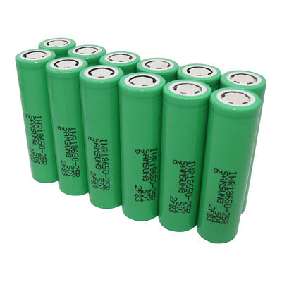 18650 2500mAh 25R 3.7V Li-ion INR High Drain Battery Rechargeable Flat Top