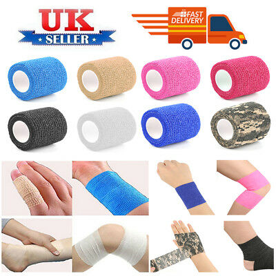 Sport Cohesive Self Adhesive Strap Tape Athletic Support Bandage First Aid  -UK#