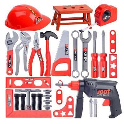 Toy Workbench Kids Childrens Tool Kit Bench Diy Station Electric Drill Play Uk