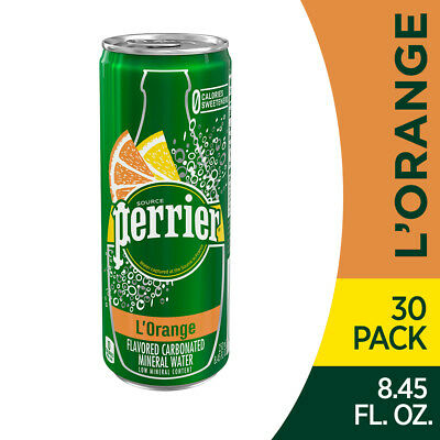 Perrier Sparkling Natural Mineral Water,L'Orange/Lemon Orange 8.45-ounce-(30 pk)