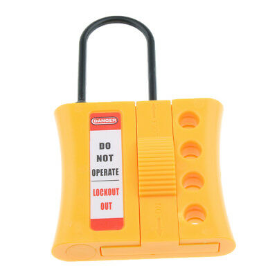 4-Hole Non Conductive Safety Dielectric Slider Insulated Lockout Hasp