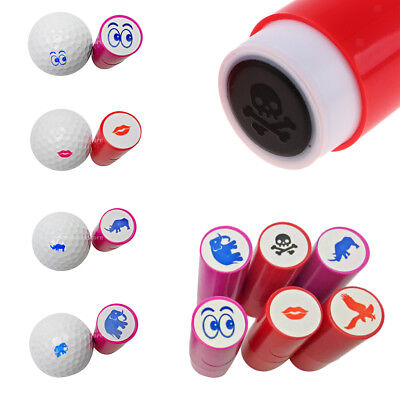 2Pcs Colorfast Golf Ball Stamp Symbol Marker Impression Seal for Golfer Fan