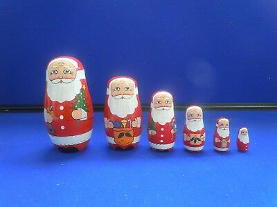Father Christmas Matryoshka Doll (6) - 14.5 cm