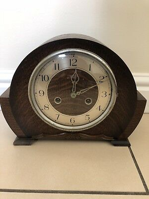 Vintage Smiths Enfield Chiming Mantle Clock. Working Order
