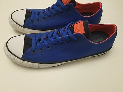 84a851dd9b55 ... Converse All Star Low Blue Neon Orange Nylon Sneakers Men s Shoes Size  12 EUC clearance ...