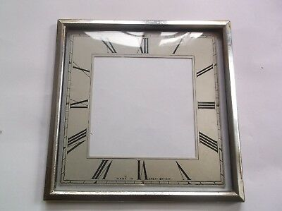 Square Glass / Rim/face  From An Old Small Smiths  Mantle Clock  5 3/4  Square