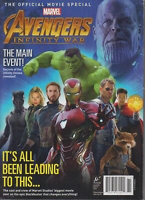 The Official Movie Special Marvel Avengers Infinity War 2018