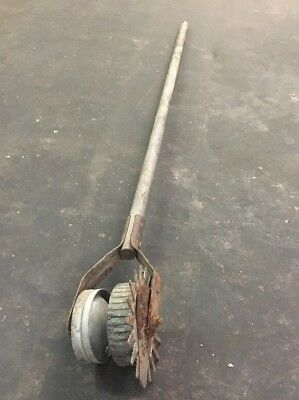 "Vintage 55"" Long Wooden Handled Lawn Edge Gardening Tool"
