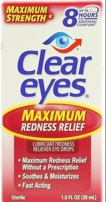 Clear Eyes Maximum Strength Redness Relief Drops 1 Oz